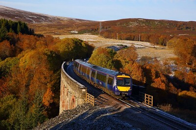 170418 on the 1T98 0845 Inverness to Glasgow Queen Street at Slochd on the 29th October 2018