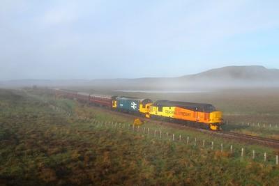 37421 tnt 37025 on the 1Z37 Edinburgh to Thurso south of Forsinard on the 3rd June 2017