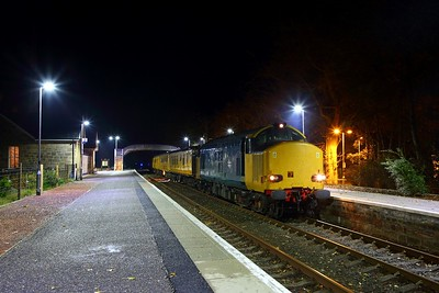 37610+37219 on the 1Q78 Inverness Millburn to Inverness Millburn via Thurso and Wick returning at Tain on the 28th October 2018
