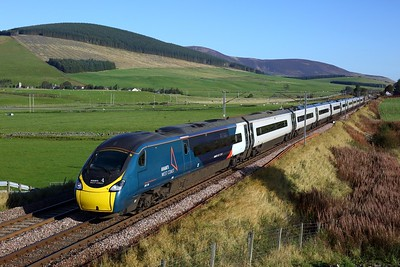 390136 working 1M10 0940 Glasgow Central to London Euston at Wandel on 2 October 2020  Avanti, Class390, WCMLScotland