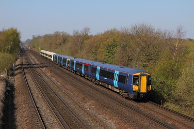 375619+375916 on the 1S30 1107 London Victoria to Dover Priory at Swanley on the 8th April 2017