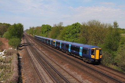 375606+375621 on the 1S30 1045 London Victoria to Dover Priory at Swanley on the 8th May 2016