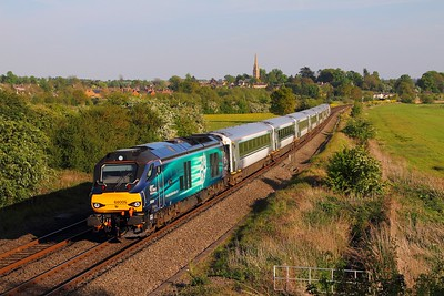 68009 on the 5U50 1829 Bicester to Banbury at Kings Sutton on the 10th May 2017