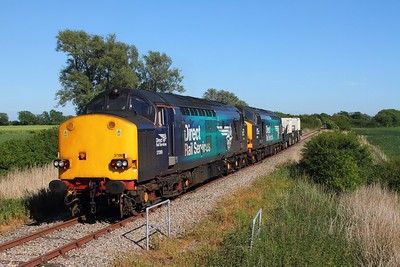 37069+37059 6M95 Dungeness to Crewe at Snargate on the 1st June 2017 1