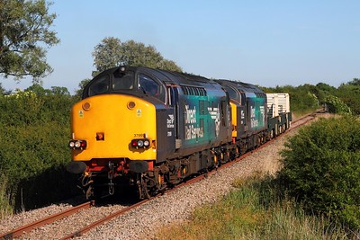 37069+37059 6M95 Dungeness to Crewe at Snargate on the 1st June 2017