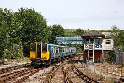 313201 on the 2C35 1329 Seaford to Brighton at Lewes on the 21st July 2019