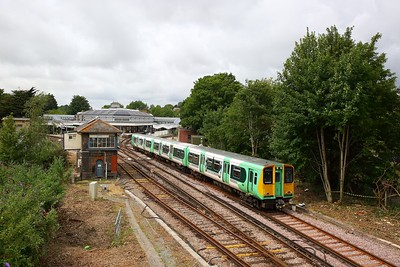 313213 on the 2C26 1147 Brighton to Seaford at Lewes on the 21st July 2019