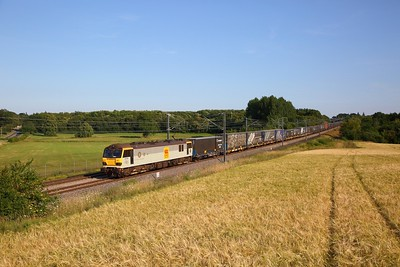 92036 on the 6L22 1805 Dollands Moor to Ripple Lane at Hothfield on the 16th July 2019