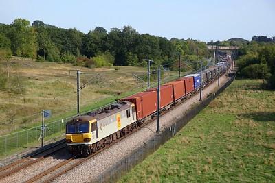 92019 powering 6L25 Dollands Moor to Ripple Lane at Lenham on 15 September 2020  Class92, HS1, DB