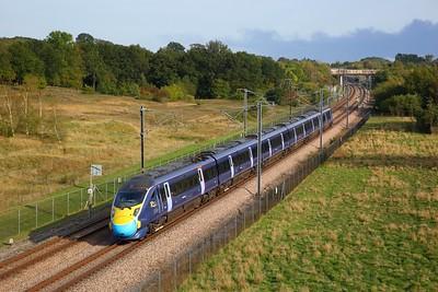 395017 working 1C34 1325 St Pancras International to St Pancras International north at Lenham on 15 September 2020  Class395, Southeastern, HS1