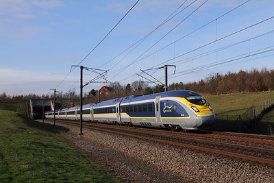 4019+4020 on the 9O24 1224 St Pancras International to Paris Nord at Westwell Leacon on the 16th January 2016