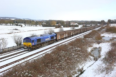 66162 powering 6Z47 1326 Dollands Moor to Daventry at Otford junction on 9 February 2021  TheMaidstoneLine, DB66, Maritime66