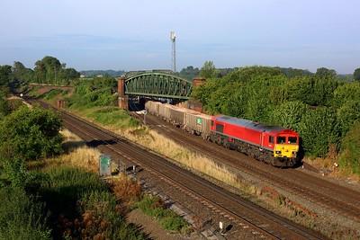 59204 working 7O12 0424 Merehead to Woking at Battledown on 8 September 2021  Class59, Freightliner, WestofEnglandMainline, SWML