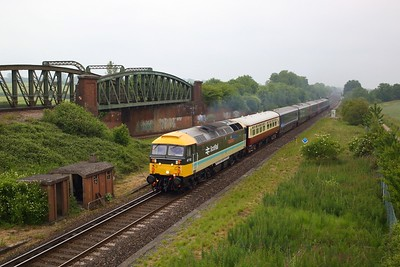 47712 working the 5Z36 Crewe to Eastleigh at Worting junction on 11 June 2020  LSL, Class47, SWML
