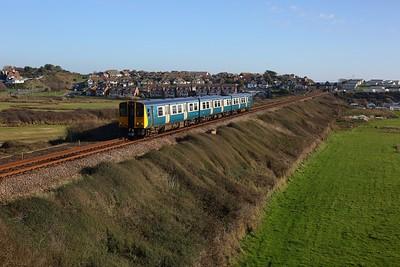 313201 working 2C39 1425 Seaford to Brighton departing Bishopstone on 6 November 2020