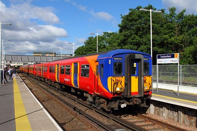 5717+5722 with 2K11 0757 London Waterloo to London Waterloo via Strawberry Hill at Twickenham on the 7th June 2017