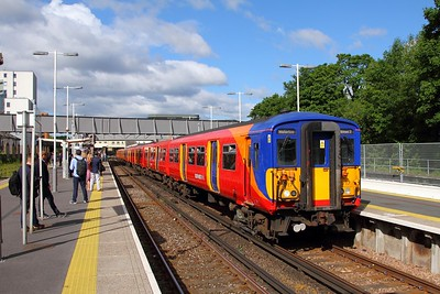5717+5722 with 2K11 0757 London Waterloo to London Waterloo via Strawberry Hill at Twickenham on the 7th June 2017 1