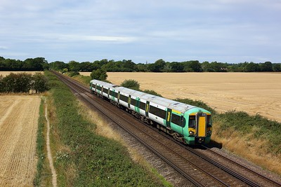 377433 working the 1J31 1113 Southampton Central to Horsham approaching Southbourne on 4 August 2020  Class377, Southern, WestCoastway