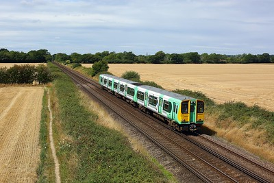313213 working the 2S13 1157 Portsmouth & Southsea to Littlehampton approaching Southbourne on 4 August 2020  Class313, Southern, WestCoastway