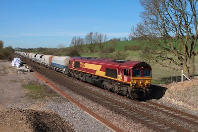 66145 on the 6M20 Whatley to Churchyard at Crofton on the 13th March 2017