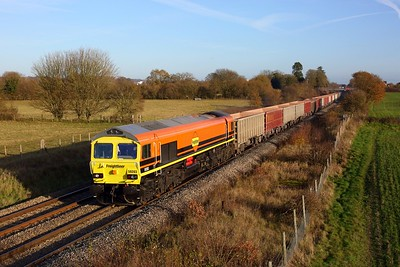 59203 working 7C77 Acton yard to Merehead at Enborne on 1 December 2020  Class59, Freightliner, BandH