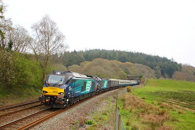 68034+88003 on the 1Z61 1535 Penzance to Tame Bridge Parkway at Restormel on the 13th April 2019