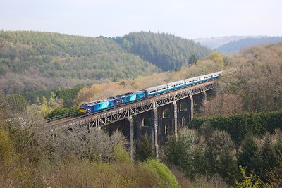 88003 leading 68034 on the 1Z60 Tame Bridge Parkway to Penzance at Largin on the 15th April 2019