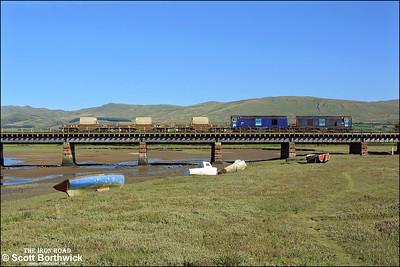 20312+20306 cross Eskmeals Viaduct whilst working 6K73 1535 Sellafield-Crewe on 08/09/2004.