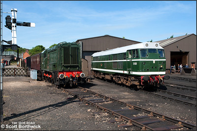 D5631 (31207) and D3940 (08772) rest between duties at Weybourne TMD on 12/06/2014.