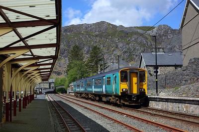 150217 working 2D14 1012 Llandudno to Blaenau Ffestiniog arriving into Blaenau Ffestiniog on 19 May 2021  Class150, TFW, ConwyValleyLine