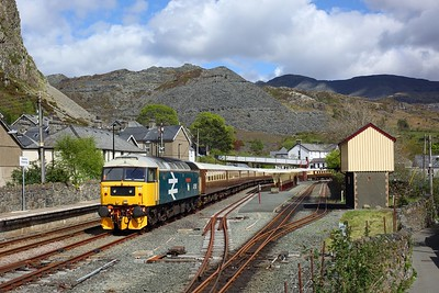 47593 and 47805 stabled in the siding at Blaenau Ffestiniog with the Statesman charter on 19 May 2021  Class47, ConwyValleyLine, LSL, Statesman