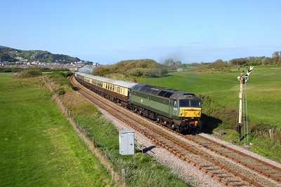 47773 tnt 7029 on the 1Z72 1635 Llandudno to Dorridge at Deganwy on the 4th May 2019