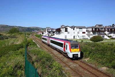 175107 on the 2D71 1508 Llandudno to Llandudno Junction at Deganwy on the 4th May 2019