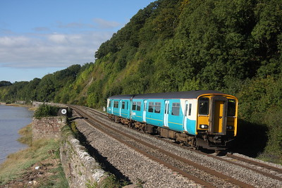 150229 on a Maesteg to Cheltenham service at Gatcombe on the 25th September 2010