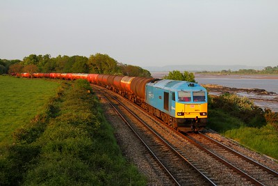 60074 on the 6B47 Westerleigh to Robeston at Purton on the 23rd May 2012