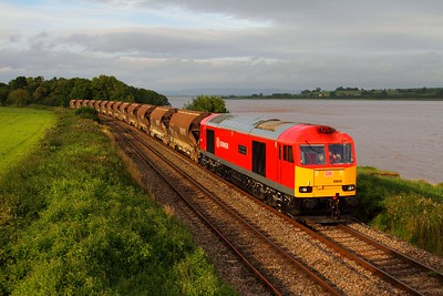 60040 on the 6V69 Bescot to Newport A D j at Purton on the 17th July 2012