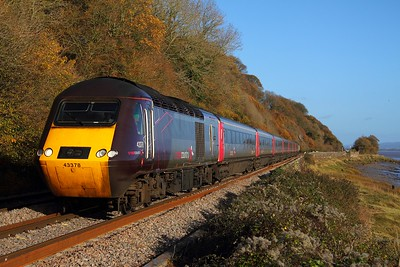 43378+43321 on the 1V50 0900 Leeds to Plymouth at Gatcombe on 27th November 2011