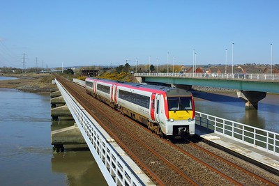 175101 working 1W62 Milford Haven to Manchester Piccadilly at Loughor on 2 April 2021  Class175, TFW, WestWalesLine