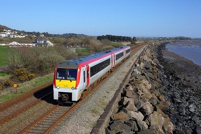 175102 working 1V40 1131 Manchester Piccadilly to Carmarthen at Pwll on 2 April 2021  Class175, TFW, WestWalesline