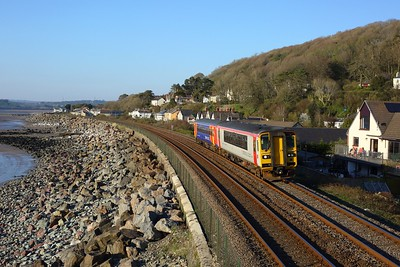 153329 leading 153913 working 1B64 1711 Milford Haven to Cardiff Central at St Ishmael on 2 April 2021  Class153, WestWalesLine, TFW