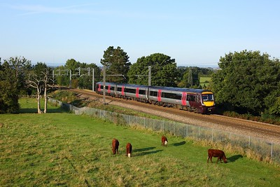 170106 leading 1M00 0639 Cardiff Central to Nottingham at Lickey on 14 September 2020  CrossCountry, Class170