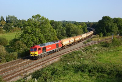 60017 working 6E45 Theale to Lindsey tanks at Hatton North junction on 21 September 2020  Class60, DB, ChilternMainline