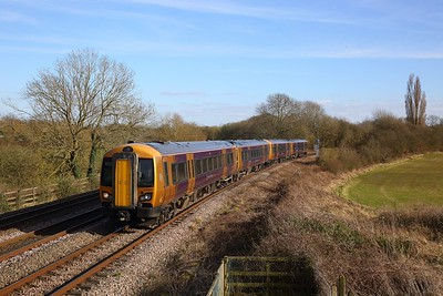 172220+172221 on the 2W82 1503 Stratford-upon-Avon to Stourbridge Junction at Hatton north junction on the 16th March 2020