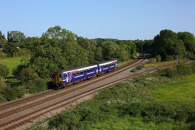 156485 working 5Q86 1209 Heaton to Eastleigh at Hatton North junction on 13 September 2020  Class156, Scotrail