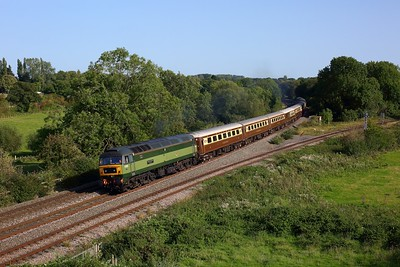 47805 tnt 37688 working 5Z70 Southall to Crewe at Hatton north junction on 13 September 2020  LSL, Class47
