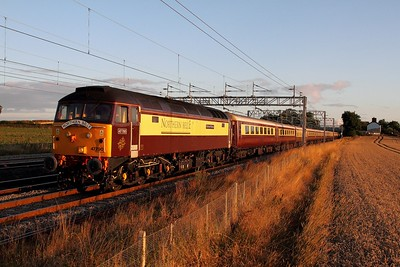 47790 tnt 57307 on the 5Z72 Crewe CS to Coventry at Grendon on the 23rd August 2014