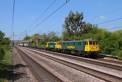 86608 ex-86501 with 86622 on the 4L90 Crewe Basford Hall to Felixstowe at Cathiron on the 10th May 2017