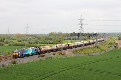 88002 on the 1Z88 Euston to Carlisle at Lichfield on the 9th May 2017