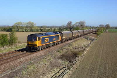 60021 powering 6H12 Tyne Dock to Drax at Little Fenton on 22 April 2021  Class60, GBRf, DearneValleyLine