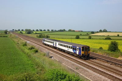 155345 working 2R06 0910 Hull to York at Colton junction on 29 June 2019   Class155, Northern, DearneValleyline